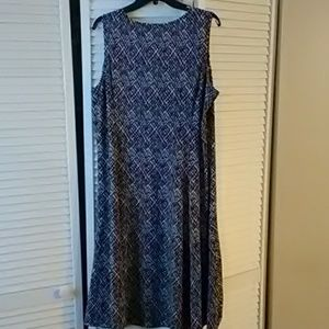 Kim Rogers Dresses - Kim Rogers Sleeveless Black and White Dress Sz XL